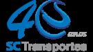 LOGO SC TRANSPORTES - 40 ANOS